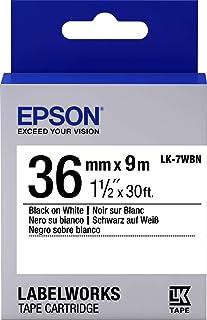 Epson LabelWorks LK ruban-7wbn – 标签 – 黑色底色为白色,c53s657006