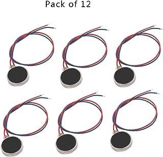 Saim 硬币电机 10mm x 3mm 迷你振动电机 DC 3V 12000rpm 扁平按钮式微型电机,适用于手机、寻呼机、平板电脑家用电器 10mmx2.7mm-12pcs A1003CQ012924#LJY