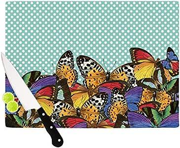 "Kess InHouse Suzanne Carter""蝴蝶波尔卡""切割板,多色 多种颜色 11.5 by 8.25-Inch SC2062ACB01"