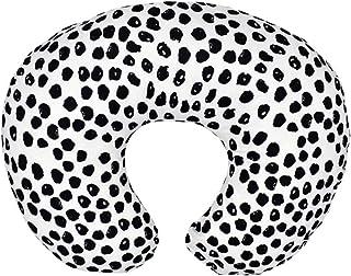 """多用途哺乳枕套,柔软弹性*枕套,哺乳枕套,哺乳枕套。 黑色圆点 22.5""""x18"""""""