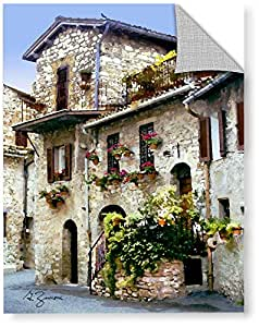 """ArtWall George Zucconi's Assisi Italy Art Appeelz Removable Graphic Wall Art, 14 x 18"""""""