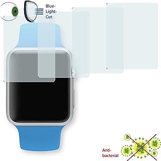 DISAGU 4 x 透明屏幕保护膜适用于 Apple Watch 运动 42 毫米 - *蓝光切割过滤器(由于弯曲形状不同,实际比显示屏小)