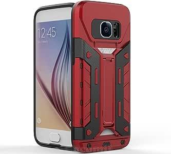GALAXY S7手机壳 cocomii Transformer 盔甲新款【 [ 重型 ] 高级内置式多种颜色名片夹 kickstand 防震硬盘缓冲壳 [ 军事 defender ] 全身双层坚固覆盖 G930 红色