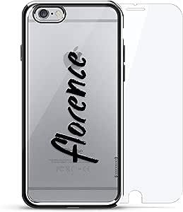 镀铬系列 360 套装:设计师手机壳 + 钢化玻璃 适用于 iPhone 6/6s PlusLUX-I6PLCRM360-NMFLORENCE1 NAME: FLORENCE, HAND-WRITTEN STYLE 银色