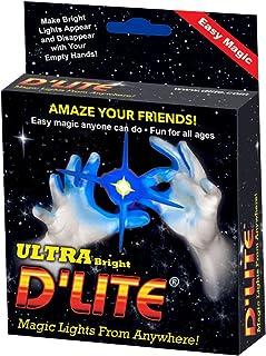D'lite 尺寸彩色闪发光魔法 - 拇指 - 2 件套原装 超亮光 - 特写和舞台魔法魔术贴 - 方便 - 免费训练视频见盒 常规 蓝色
