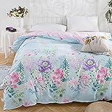 Xanlenss 轩蓝仕 全棉斜纹印花被套 纯棉田园高支数高密度被罩 环保印花贡缎被套 (花团锦簇, 200 * 230cm)