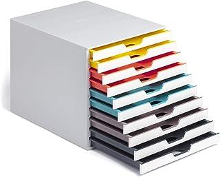 Durable 762527 抽屉盒 A4 (象牙色混合) 10 Fächer