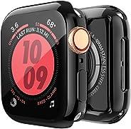 [2 件装] BRG 苹果手表屏幕保护膜 44 毫米,iWatch 系列 5 4 柔软 TPU 高清透明超薄总体保护壳