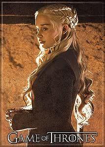 "Ata-Boy 《权力的游戏》之家 Targaryen 6.35 厘米 x 8.89 厘米磁铁适用于冰箱和储物柜分类1 Daenerys 2.5"" x 3.5"" 73216GT"