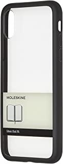 Moleskine Iphone x 手机壳硬壳纸带  黑