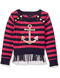 Nautica 女童长袖时尚毛衣