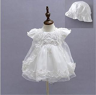 micialuxury 新生儿 蕾丝雪纺 婴儿裙 吊带连体衣&带蕾丝开衫 象牙色 6month