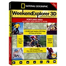 National Geographic TOPO! 周末探险者 3D (Portland Area, Mt. 兜帽,Mt. 圣赫伦斯)