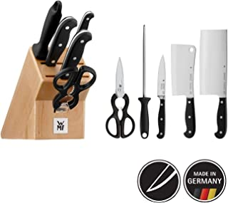 WMF 福騰寶 刀具6件套 一流品質 帶刀座 3把鍛造性能刀,一把剪刀,一根磨刀棒,山毛櫸木刀座