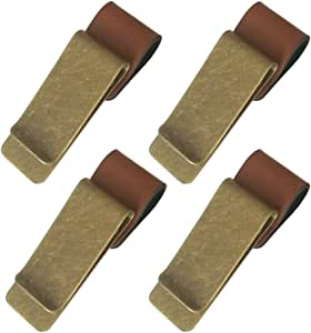 ALTTIMERY 复古皮革旅行笔记本铅笔筒金属夹 4片装