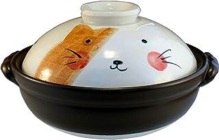 CtoC JAPAN Select 土锅 多色 MO522 6号 手绘猫 万古烧 日本制造