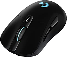 Logitech 罗技 G703 LIGHTSPEED 无线游戏鼠标(带HERO 16K传感器,LIGHTSYNC RGB,POWERPLAY兼容,重量轻95克+可选10克重量,欧盟包装,西欧)