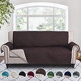 RHF 双面沙发套、沙发套、狗沙发套、沙发套、沙发套、沙发套、沙发套、沙发保护器、家具保护罩、可机洗({尺寸}:${颜色}) 巧克力色/米色 Sofa sf_cv_2s-3-c-b