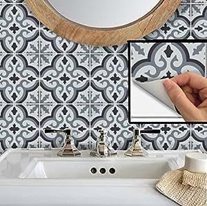 瓷砖厨房即剥即贴贴纸4X 4沐浴 m001a-4