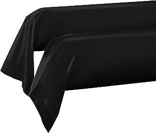 Home Passion 2 件装枕套 颈枕 85 x 185 厘米,57 根线 * 棉 黑色 185 x 85 厘米