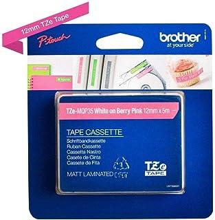 Brother 兄弟 Original P-touch 普贴趣标签带 TZe-MQP35 weiß auf matt-pink
