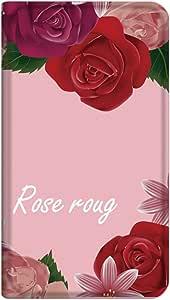 智能手机壳 手册式 对应全部机型 薄型印刷手册 cw-251top 套 手册 玫瑰红 超薄 轻量 UV印刷 壳WN-PR335269-M Xperia Z3 Compact SO-02G 图案C