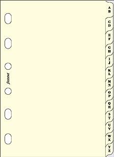 filofax 斐來仕 211664 pocket A7 A-Z字母索引頁 筆記本內頁 活頁替芯 內芯 配件(米黃色)