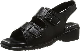 日本制造 LUCIANO VALENTINO LUCIANO VALENTINO 2根带皮带纳斯・办公室凉鞋 女款 黑色 19710