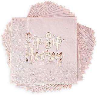 Cakewalk 7311 Sip Hooray 鸡尾酒餐巾 20 件套,尺寸,粉色