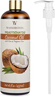 Wasserstein 分裂椰子油与泵 - * *。 适合芳香*或作为保湿按摩油(453.59 毫升,椰子)