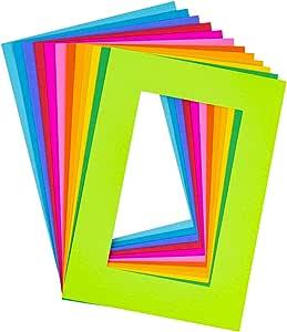 Hygloss Products 34487 明亮特色画框,小号(17.78 x 12.07 厘米),12 种颜色可选