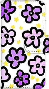 智能手机壳 手册式 对应全部机型 印刷手册 cw-008top 套 手册 花朵图案 UV印刷 壳WN-PR023973-S AQUOS PHONE SERIE mini SHL24 图案E
