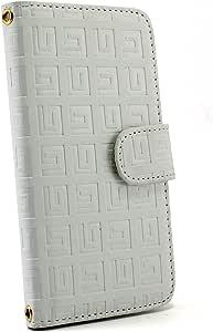 白色坚果回纹图案手机保护壳翻盖式 白色 7_ Huawei Ascend D2 HW-03E