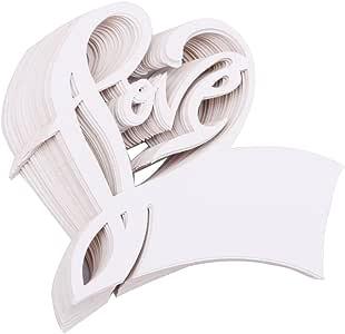 "driewwedding 心形表纸 escort 名称卡婚礼 place MEMO note 显示卡*杯坐显示卡派对用品 ""Love"" Heart 均码"