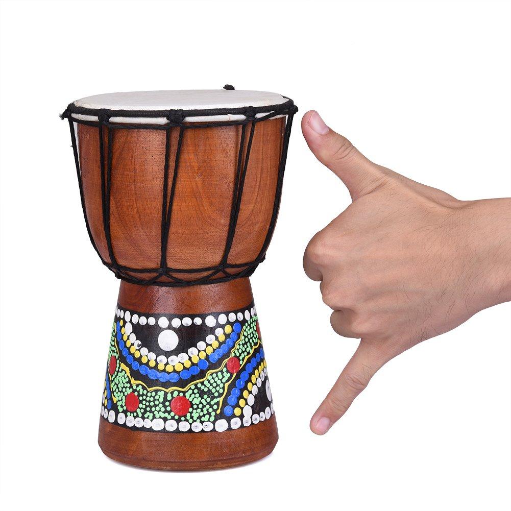 手绘金杯鼓木制山羊皮专业材料经典绘西部非洲邦戈鼓儿童玩具SKYMOON-123 7.87 inch*4inch