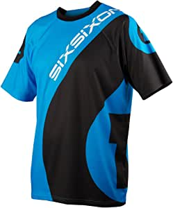 SIXSIXONE SHORT SLEEVE JERSEY 短袖 运动衫 青色/黑色 L码 0434000202003 青色/黑色 L
