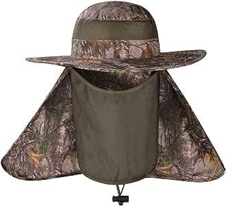 HAPEE 时尚夏季户外*钓鱼帽颈部翻盖帽宽帽檐 玫瑰红 大