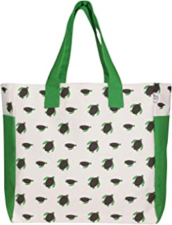 EcoRight 大号帆布防水衬里沙滩包 - 3 个内袋 - 非常适合旅行、设计海龟