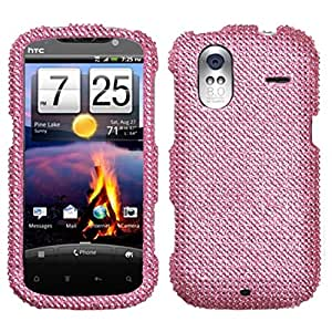 Asmyna HTCAMAZE4GHPCDMS004NP Dazzling Diamante Bling Case for HTC Amaze 4G - 1 Pack - Retail Packaging - Pink