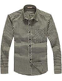 Goralon 男士长袖衬衫【两件100四件160多款多色】宽松翻领男装休闲衬衫男格子衬衣