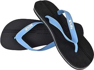 SEAC Unisex's Maui 超厚防滑橡胶女士和男士人字拖,黑色/蓝色,43/44
