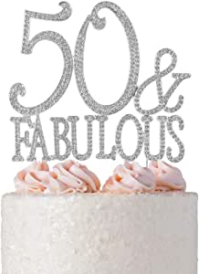 40 个精美水钻蛋糕装饰 50&Fab Silver 50&Fab Silver