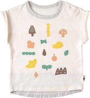 Hoppetta plus OG纱布 平纹印花T恤 [対象] 6ヶ月 ~ 12ヶ月 奶油色 70