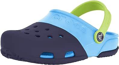 Crocs 卡骆驰 ElectroII代 儿童元气平底洞洞鞋 凉拖鞋 Navy/Electric Blue 7 M US Toddler