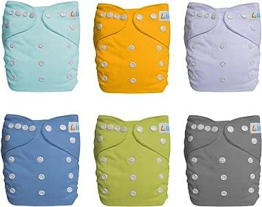 LBB 布尿裤套和插袋,口袋婴儿尿布(6 包),LBBZH6CX60002