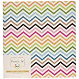 Project Life Album, 6 by 8-Inch, Multi Chevron