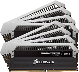 Corsair CMD64GX4M8A2666C15 Dominator Platinum 64 GB (8x 8 GB) DDR4 2666 MHz CL15 XMP 2.0 Enthusiast Desktop Memory Kit - Black