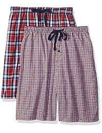 Hanes 男式 2 件装针织睡衣短裤