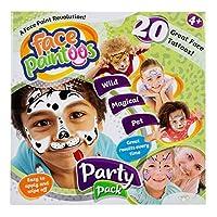 Face Paintoos FP101 派对套装,临时面部涂色纹身