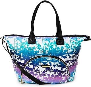 Juicy Couture 粉色和蓝色棕榈 Malibu 日落周末旅行包沙滩包